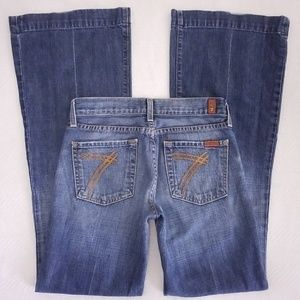 7 FOR ALL MANKIND WOMENS Sz 26 DOJO LOW RISE FLARE